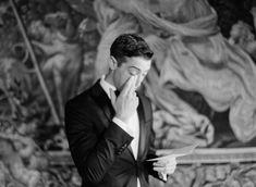Groom reading letter from a bride French Chateau, Destination Wedding Photographer, Fairy Tales, Groom, Letter, In This Moment, Fine Art, Bride, Film