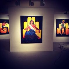 """regram Queens have made it safely across the street to HQ. The exhibition """"Yellow is the Colour of Water"""" by gifted artist and curated by the talented will be open until end of October. African Art, Queens, Contemporary Art, October, Colour, Yellow, Street, Frame, Water"""