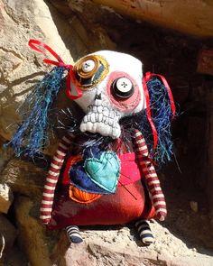 Skeleton art doll by Monster Maud