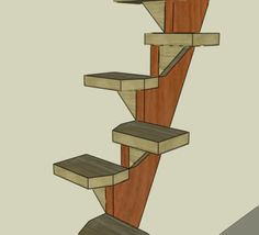 I've seen a couple of designs on other websites recently for steep space-saving stairs. Using those ideas as inspiration I've come up with a simple way to build a stairs from a couple o…