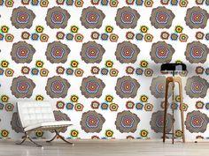 Design #Tapete Pixel Blumen Pop