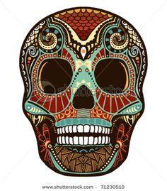 """Calavera y diablitos... Invaden mi corazon """"sugar skull"""""""