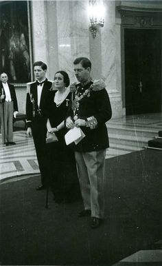 Prince Mihai (later king Mihai I) with his father, King Carol II and his aunt Princess Elisabeth during a special occasion on the Palace; Michael I Of Romania, Romanian People, Romanian Royal Family, Royal Photography, Central And Eastern Europe, Military Photos, Asian History, Blue Bloods, Royal House