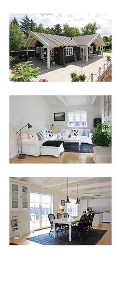 """Nachdem Euch die Shabby Chic Ferienhäuser sehr interessierthaben, zeige ich heute meine schönsten """"Black & White""""- Ferienhäuser in Dänemark. Dabei auch ein Ferienhaus, dass wie im Tine K Home Stil eingerichtet ist. Es geht im Uhrzeigersinn durch Dänemark... #blackandwhite #cottage #langeland"""