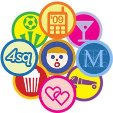 Foursquare badges - Geo-Social gaming