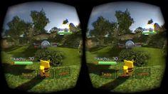 Pokemon in Virtual Reality! Gameplay of Pokemon VR for Oculus Rift, Leap...