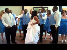 We hope you enjoy our first dance as Mr. We had a blast at our wedding & loved that our entire bridal party, and some guests, joined in with us! Wedding First Dance, Our Wedding, Xhosa Attire, The Mister, Wedding Entrance, African American Weddings, Glamorous Wedding, Wedding Videos, Reception