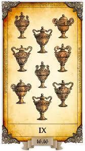 Nine Of Cups, Tarot Cards, Stability, Abundance, Foundation, Candle Holders, Key, Candles, Tarot Card Decks