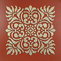 Wall Stencil | Large Sicilia Tile Stencil | Royal Design Studio Turn it on the diagonal - repeats the arches found in the larger set elements also easy to reproduce this repeating pattern for many different uses