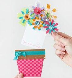 手作り母の日カードの作り方画像