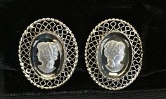Vintage  Whiting and Davis Cameo Reverse Cut by CoCoBlueTreasures