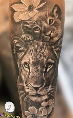 Tattoo Mama, Mommy Tattoos, Mother Tattoos, Baby Tattoos, Girly Tattoos, Pretty Tattoos, Cubs Tattoo, Skull Tattoos, Animal Tattoos
