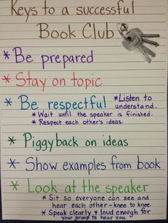 What to do in book club
