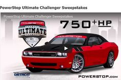"Dodge Challenger 2016 Sweepstakes  ENTER TO WIN Power Stop's Ultimate Challenger Sweepstakes!  Hit the brakes and enter for a chance to win the 750+HP Power Stop Ultimate Challenger built by the Detroit Muscle team! It's easy to enter! Click the ""Enter Now"" tab for your chance to win."