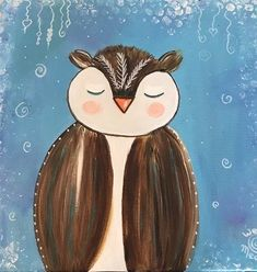 Paint and create an owl is a free online art class with step by step videos and instructions on how to draw an owl using simple shapes, mix paints, Art Therapy Projects, Art Projects, Disney Drawings, Cartoon Drawings, Online Art Courses, Animal Paintings, Bird Paintings, Love Illustration, Simple Shapes