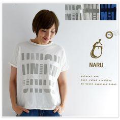 【NARU ナル】プリント ビッグ Tシャツ カットソー (622141)
