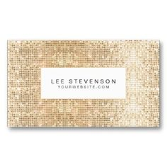 Fun Sparkly Gold Sequins Business Card