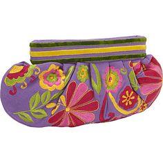 #FabricHandbags, #Handbags - Moyna Handbags Medium Gathered Clutch Purple - Moyna Handbags Fabric Handbags