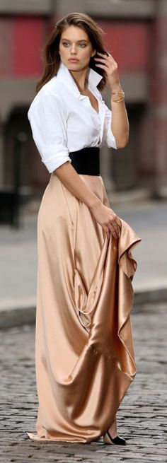 LUXE BE A LADY... #maxi #skirt #shopdailychic