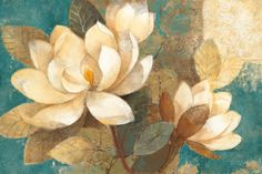 Turquoise Magnolias Impressão artística