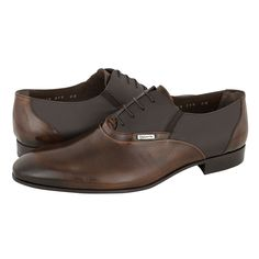 Sezze - Ανδρικά δετά παπούτσια Guy Laroche από λουστρινι και δερμα με δερμάτινη φόδρα και δερμάτινη σόλα.  Διατίθεται σε χρώμα Μπλε, Ταμπά-Καφέ και Μαύρο.