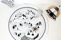 Permet de jouer - tapis de sol / tapis - main imprimé - superbe Design Original