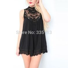 2015 Brand New Women Black White Sleeveless Lace Crochet Dresses Hollow Out Flower Mini Dress Fashion Sexy Short Dress S 4XL-in Dresses from Women's Clothing & Accessories on Aliexpress.com | Alibaba Group
