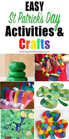 Looking for exciting and fun ways to celebrate St Patrick's Day with your toddler or preschooler? Check out out these amazing St Patrick's Day activities and crafts for kids. patricks day ideas for kids Easy St Patrick's Day activities St Patrick Day Activities, Spring Activities, Holiday Activities, Toddler Crafts, Preschool Crafts, Kids Crafts, Arts And Crafts, Preschool Garden, St Patrick's Day Crafts