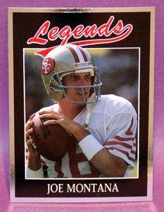 Joe Montana S.F. 49ers 1991 Legends Sports Memorabilia Magazine Insert Card