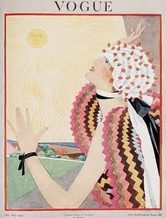 Vogue in the 1920s and 30s- a magazine with a very distinctive aesthetic & emphasis on images/illustration