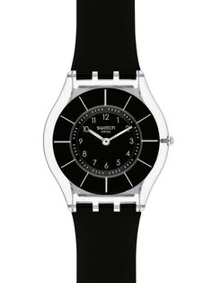 nice Swatch Unisex Black Classiness Watch SFK361 just added... Check it out at: https://buyswisswatch.co.uk/product/swatch-unisex-black-classiness-watch-sfk361/