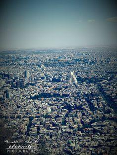 Damascus From Qasioun Mount  دمشق من جبل قاسيون بعدستي ♥