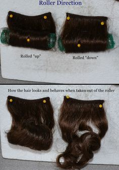 Up or Down? How roller direction affects the style - from Custom Wig Company