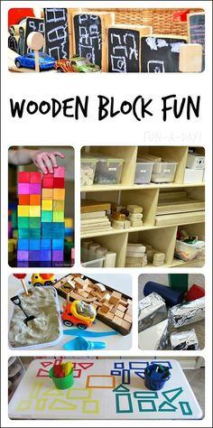 Great collection of wooden block activities for children!