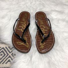 25c1862772d5 Sam Edelman Black Gracie Thong Flip Flops Size 9. Originally  55  fashion   clothing  shoes  accessories  womensshoes  sandals (ebay link)