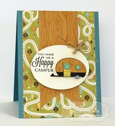 August SOTM Happy Camper Card by Amy Crockett #Stampofthemonth, #Cardmaking, http://tayloredexpressions.com/kits.html