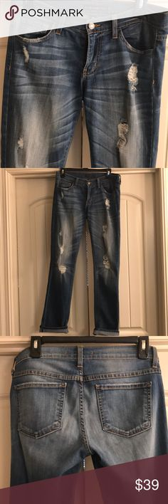 Jeans Flying Monkey Boyfriend Fit with Destruction Soft and casual with a more relaxed fit. I normally wear a 26 and these are a 25 and still fit relaxed. Flying Monkey Jeans, Destruction, Boyfriend Jeans, Product Description, Best Deals, Fitness, Casual, Pants, How To Wear
