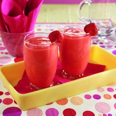 Berry-Banana Smoothie  Ingredients:  2 cups 1% low-fat milk  1 ripe banana, sliced  1/2 cup SPLENDA® No Calorie Sweetener, Granulated  1 (0.13 ounce) package KOOL-AID® Strawberry Flavor Unsweetened Soft Drink Mix  2 cups ice cubes