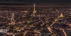 City of lights - Pinned by Mak Khalaf View of Paris from atop Mountparnasse Tower City and Architecture citycityscapeelydanfrancelightlightslong exposurenightnight photographynightscapeparisstreetsunsettravelurbanfineartprint by SFera