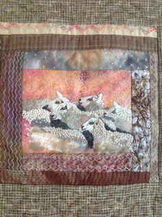 Detail of sheep quilt .Debbie Irving