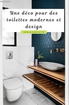 Dreaming of a luxury or designer bathroom? We've gathered together plenty of gorgeous bathroom ideas for small or large budgets, including baths, showers, sinks and basins, plus master bathroom decor suggestions. Toilette Design, Contemporary Bathroom Designs, Modern Toilet Design, Toilet Tiles Design, Contemporary Bathroom Inspiration, Contemporary Interior Design, Contemporary Bedroom, Tile Design, Modern Interior