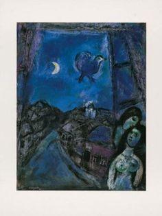 Abend Am Fenster, 1950 Sammlerdrucke von Marc Chagall - bei AllPosters.ch