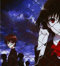 Another ~ Misaki & Kouichi ♡ Manga Art, Manga Anime, Another Misaki Mei, Fairy Tail, Otaku, Vampire Eyes, Dbz, Chibi, Naruto