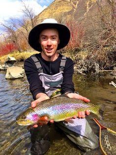 Beautiful bow I landed on the Lower Provo while nymphing with a sow bug!