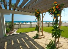 The Pergola Is An Ideal Setting For Your Gulf Front Wedding Ceremony At Hilton Pensacola Beach Hotel