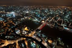 """Stunning photo of London from above the new Shard building in the early hours of the morning, taken by the """"Sky Warriors"""" - awesome guys, thank you!"""