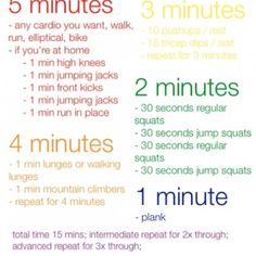 15 minute workout 5-4-3-2-1 workout...totally made me sweat!