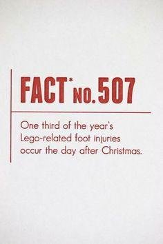 Give this card to any dad, mom, brother, sister, or really anyone that's had close foot encounters of the lego kind. Ouch! www.mooreaseal.com