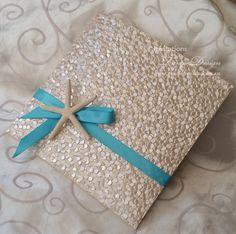STARFISH wedding invitation. Luxury Pocket BEACH theme invitations SAMPLE. Destination travel card set, info rsvp cards suite. Summer invite