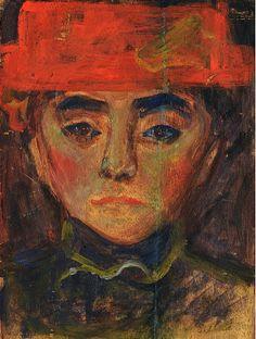 bofransson: Edvard Munch (Norwegian, 1863 - 1944) Portrait Study 1892 - 1893